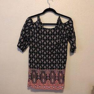 Three quarter sleeve mini dress